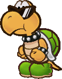 Sprite of a green Koopa Troopa from Super Paper Mario.