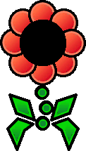 Sprite of a red Floro Sapien from Super Paper Mario.