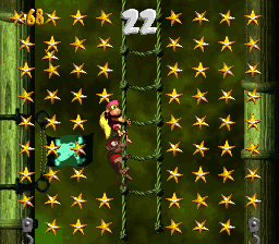 The Kongs in the first Bonus Level of Slime Climb