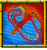 Pirate Lagoon course icon from Diddy Kong Racing DS.