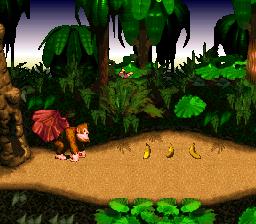 Donkey Kong starts the level.