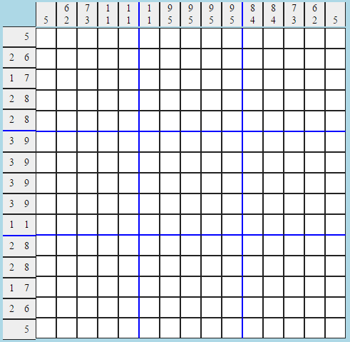 The easy Picross, for the 106th The 'Shroom issue.