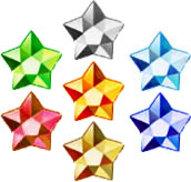 Official artwork of all the Crystal Stars.