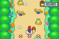 The Bowser mini-game, Mush Rush from Mario Party Advance