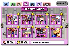 Spooky House level selection in Mario vs. Donkey Kong