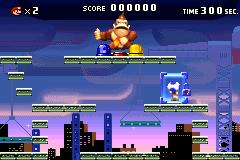 Top half of the Donkey Kong level in Mario vs. Donkey Kong