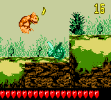 Kiddy Kong in the first Bonus Level of Riverbank Riot from Donkey Kong GB: Dinky Kong & Dixie Kong