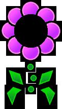 Sprite of a purple Floro Sapien from Super Paper Mario.