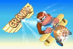 The victory screen for Team Cranky in Diddy Kong Pilot 2003, shown after completing a cup as Cranky Kong
