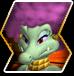 Kalypso's character selection icon from Donkey Kong Barrel Blast.