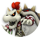 Icon of Dr. Dry Bowser from Dr. Mario World