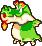 Dragohoho's overworld sprite from Mario & Luigi: Superstar Saga.