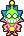 Overworld sprite of Fawful (second battle) from Mario & Luigi: Superstar Saga.