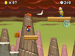 World 8-7 in the game New Super Mario Bros..