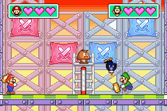 The Duel mini-game, Volleybomb from Mario Party Advance