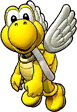 Sprite of Yellow Koopa Paratroopa's team image, from Puzzle & Dragons: Super Mario Bros. Edition.