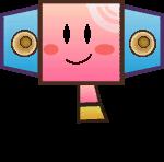 Sprite of a Beepboxer from Super Paper Mario.