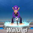 Waluigi in tennis from Mario Sports Superstars