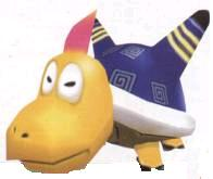 A Blue Electrokoopa from Super Mario Sunshine.