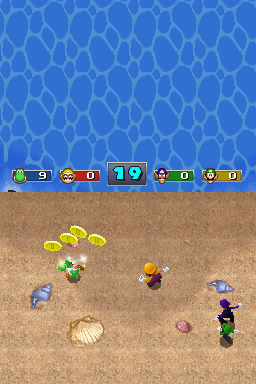 4-player mode for Tidal Fools in Mario Party DS
