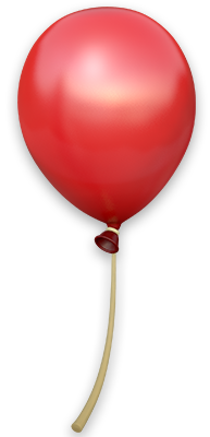 Artwork of a Red Balloon from Donkey Kong Country: Tropical Freeze.