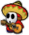 A Paper Sombrero Guy's battle sprite from Mario & Luigi: Paper Jam.