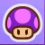 Poison Mushroom sticker from Paper Mario: Sticker Star.