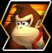 Donkey Kong's character selection icon from Donkey Kong Barrel Blast.