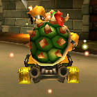 Bowser performing a trick.