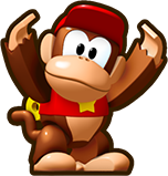 Mini Diddy Kong, from Mini Mario & Friends: amiibo Challenge