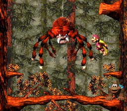 Arich's battle in Donkey Kong Country 3: Dixie Kong's Double Trouble!