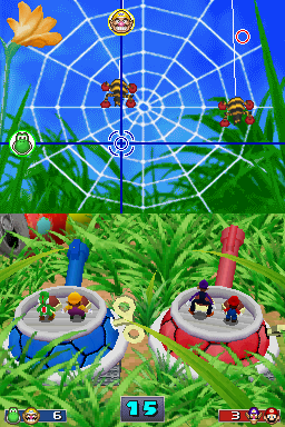 Gameplay of Crazy Crosshairs in Mario Party DS.