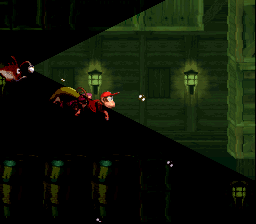 The Kongs and Glimmer the Angler Fish traveling through Glimmer's Galleon