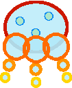 Sprite of a Jellien from Super Paper Mario.