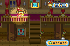 The Bowser mini-game, Splatterball from Mario Party Advance