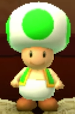 Green Toad as viewed in the Character Museum from Mario Party: Star Rush