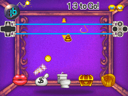 Trash It, a minigame from Wario: Master of Disguise