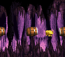 The first Bonus Stage in Mine Cart Madness