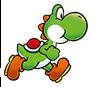 Yoshi running in Super Mario Run.