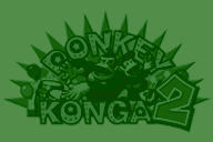 Texture of the European logo in the background of Dixie's Notes in Donkey Konga 2.