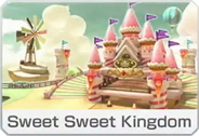 Sweet Sweet Kingdom icon from Mario Kart 8 Deluxe.