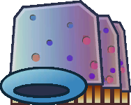 Sprite of a Shlurp from Super Paper Mario.