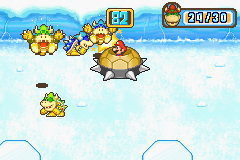The Bowser mini-game, Crushed Ice from Mario Party Advance