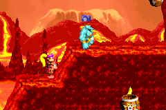 The Kruncha with a photograph icon over its head from Red-Hot Ride in the Game Boy Advance version