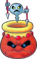 Artwork of a Vase and Vase-Based from Virtual Boy Wario Land.