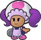 The Excess Express waitress from Paper Mario: The Thousand-Year Door.