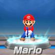 Mario in tennis from Mario Sports Superstars