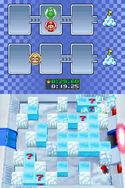 Gameplay of Cube Crushers in Mario Party DS.