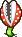 A Piranha Plant's overworld sprite from Mario & Luigi: Superstar Saga.