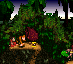 The N in Barrel Cannon Canyon from Donkey Kong Country